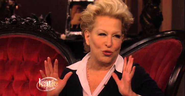 Bette Midler thinks Trump's 'jealousy' of Obama 'will lead to thousands of premature deaths'