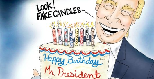 Cartoon bonus: Happy Birthday, Mr. President! by A. F. Branco