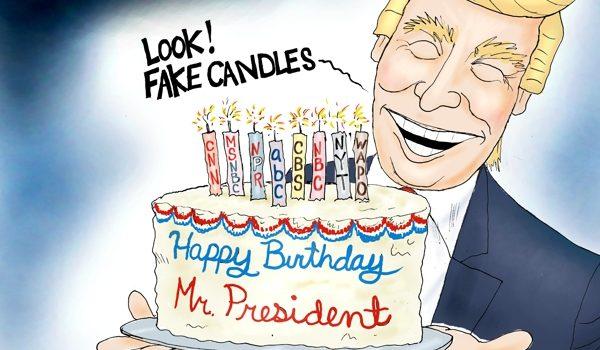 Cartoon bonus: Happy Birthday, Mr. President! by A. F. Branco