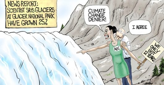 Cartoon of the Day: Inconvenient glacier by A. F. Branco