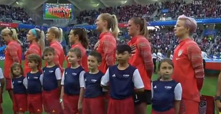 Women's soccer star refuses to sing national anthem, as 'f-you' to Trump