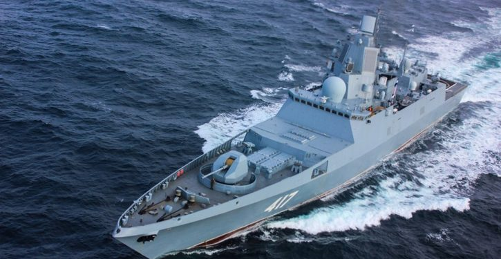 Russia's newest frigate, escorts now operating in Caribbean