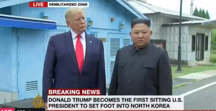 Trump just became first sitting POTUS to set foot in North Korea; meets Kim at DMZ