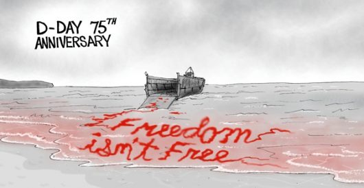 Cartoon bonus: D-Day 75th Anniversary by A. F. Branco