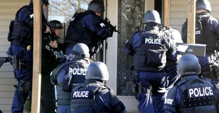 Police raid home before obtaining search warrant. Judges rule evidence admissible.