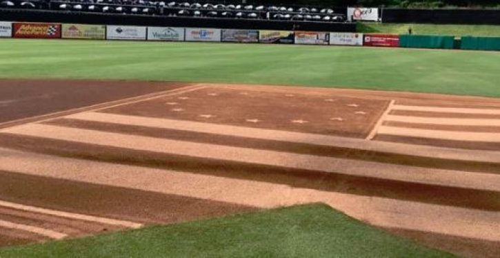 Minor League baseball team apologizes to Colin Kaepernick after drawing Betsy Ross flag on infield