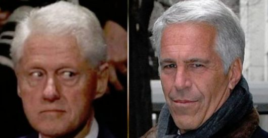 Photos of Bill Clinton and Jeffrey Epstein vanishing; fake photos of Trump and Epstein appearing by LU Staff