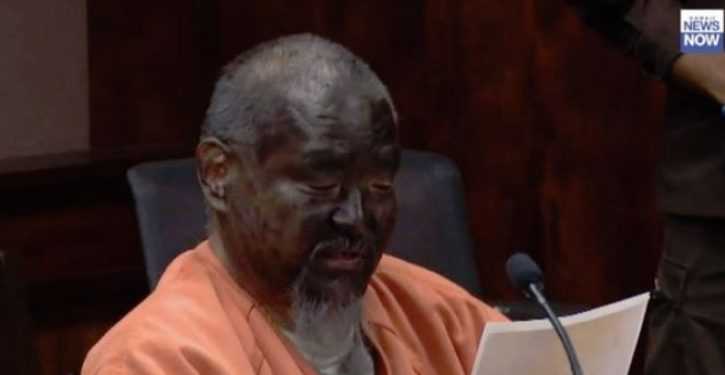 Man convicted of attempted murder in road rage incident wears blackface to sentencing