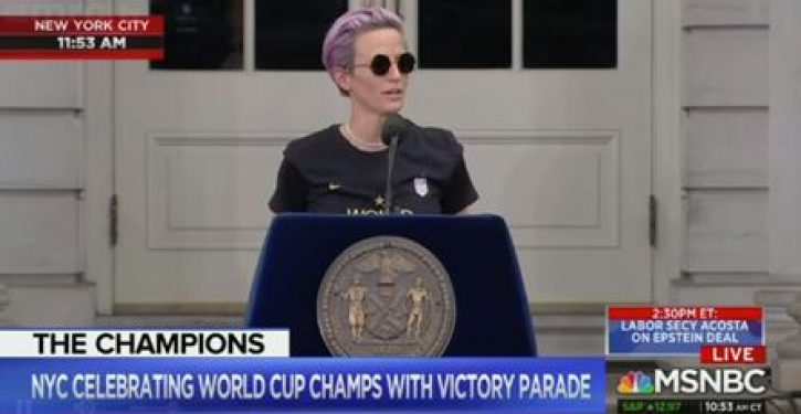 Rapinoe drops f-bomb in victory speech, MSNBC's Andrea Mitchell praises her 'eloquence'