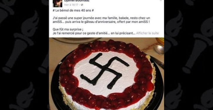 French city official celebrates birthday with swastika-decorated cake