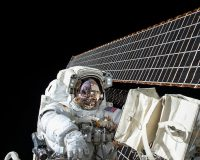 All-woman spacewalkers pause during event to gently correct man's error