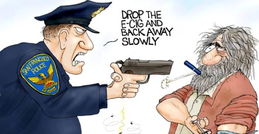 Cartoon of the Day: Vaporizing crime by A. F. Branco