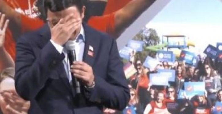 Presidential hopeful Andrew Yang weeps at the effects of gun violence
