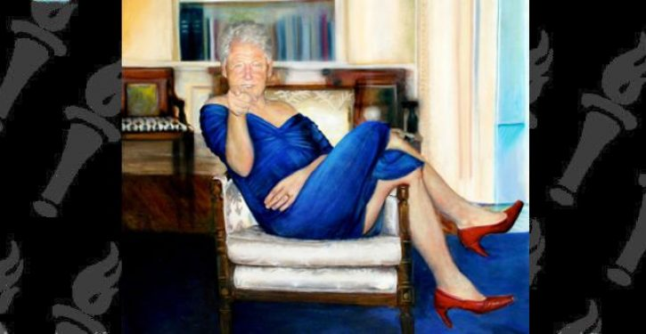 Jeffrey Epstein Had Painting Of Bill Clinton Clad In Blue