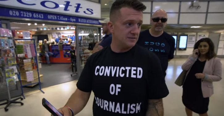 Tommy Robinson gets the Soviet-style 'socially allied elements' treatment