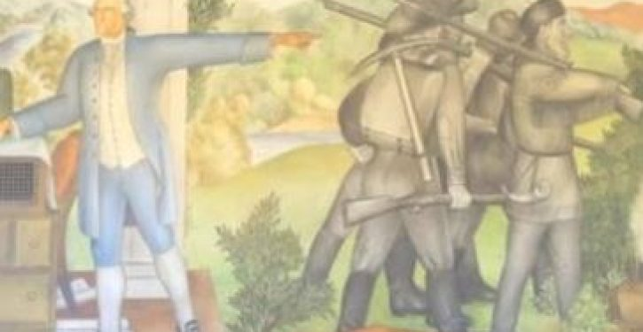 Compromise? George Washington mural in school won't be torn down — just covered up