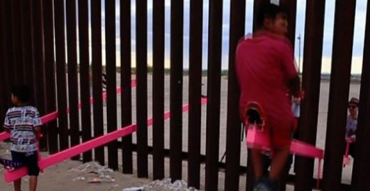 A dream realized: A seesaw connecting Mexico and the U.S.