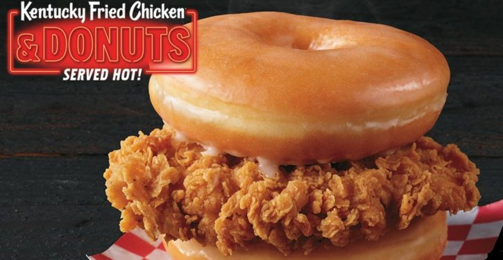 KFC now serving a chicken-doughnut sandwich for some reason
