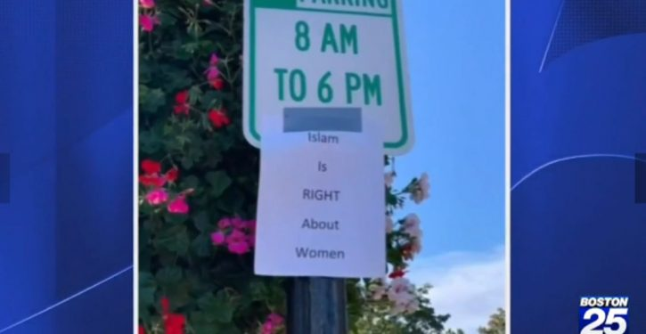 Odd signs posted in Massachusetts town: 'Islam is right about women'