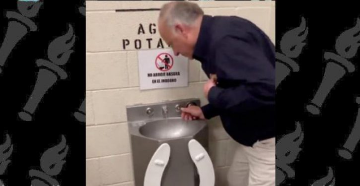 Ocasio-Cortez rips Steve King after he shares video drinking from toilet-fountain hybrid at border