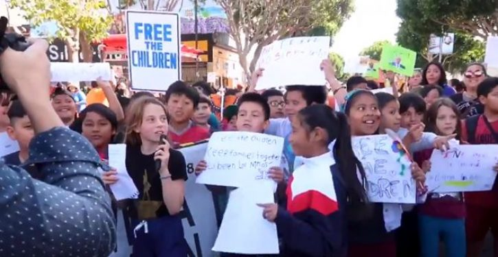 SF teachers drag 5-year-old kids with anti-Trump signs to rally, coach them on hateful chants