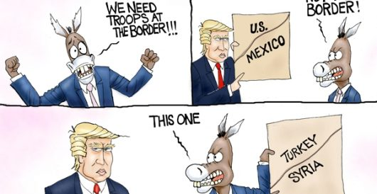 Cartoon of the Day: Border war by A. F. Branco