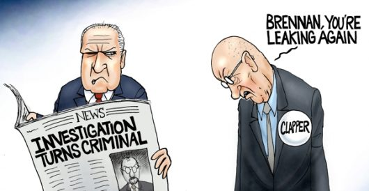 Cartoon of the Day: Cleanup on aisle deep state by A. F. Branco