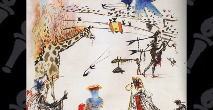 Man walks out of San Francisco gallery with Salvador Dali painting