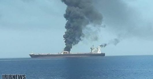 Iranian tanker suffers explosion in Red Sea; tanker company reports 'rocket' attack by J.E. Dyer