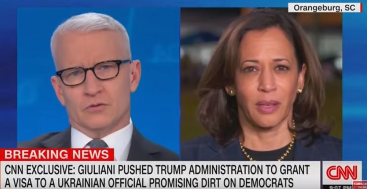 'I, I, I Don't Know': Kamala Harris stumped by pointed question about Giuliani from Anderson Cooper