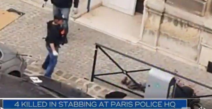 Knife attacker at Paris police HQ: 4 killed, 1 injured