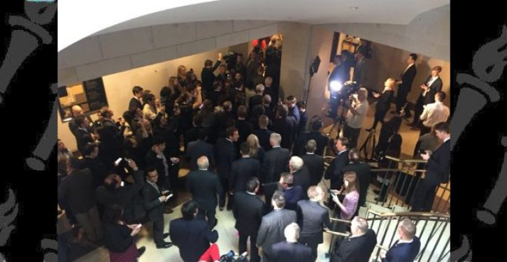 Republicans storm closed-door impeachment proceeding
