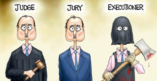 Cartoon of the Day: 'Justice' isn't blind, just bug-eyed by A. F. Branco