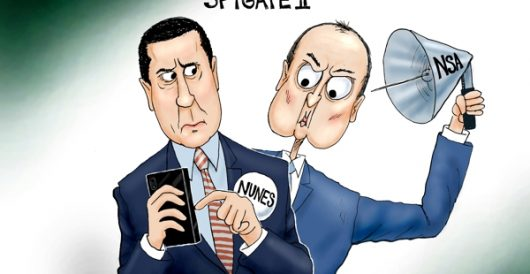 Cartoon of the Day: Deep Schiff by A. F. Branco