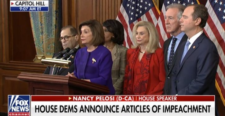 Democrats unveil articles of impeachment alleging abuse of power, obstruction