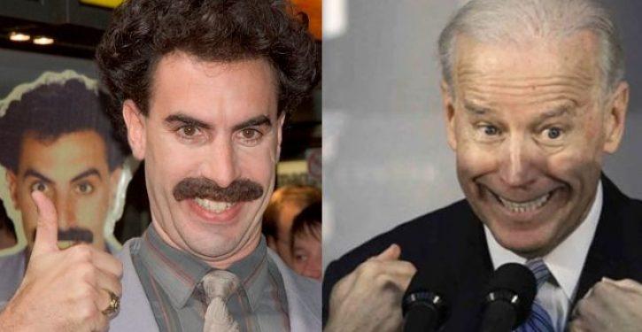 VIDEO: Is Joe Biden now channeling Borat?