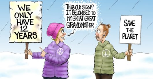 Cartoon of the Day: Here's your sign by A. F. Branco