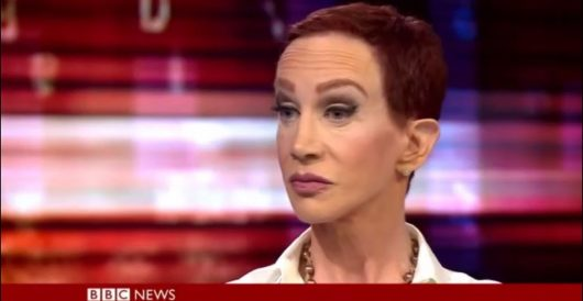 Tweet of the Day: Kathy Griffin wants Trump to kill himself by injecting syringe full of air by Joe Newby