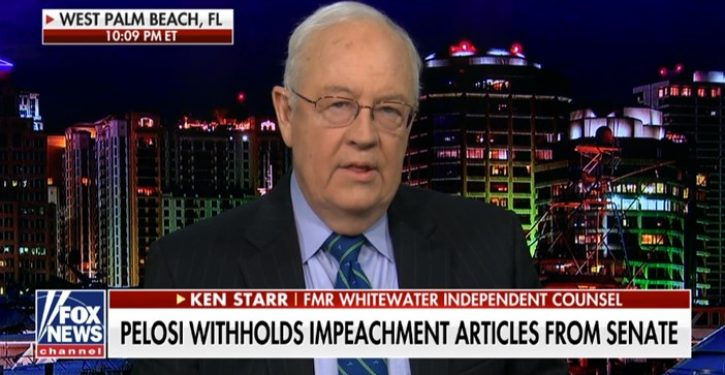 Ken Starr: House Dems have committed a 'fraud on the high court of impeachment'
