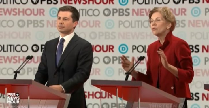 Watch Warren and Buttigieg duke it out over who's more 'pure'