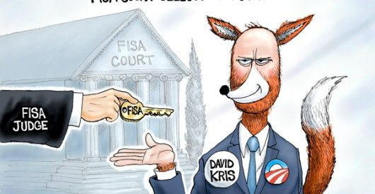 Cartoon of the Day: FISA fox by A. F. Branco