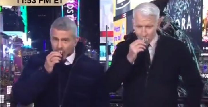 On New Year's Eve, CNN's Anderson Cooper discusses biggest penis in Hollywood