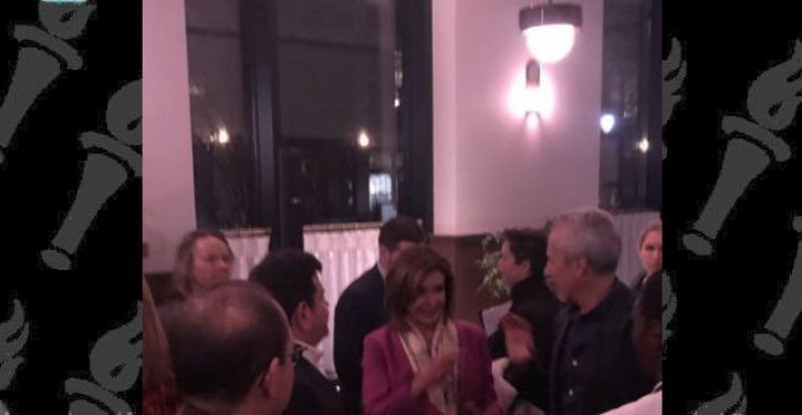 During Iran's retaliatory bombing, Pelosi was at the opening of a fancy restaurant in D.C.