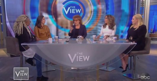 'The View' celebrates a white supremacist because he turned on Trump by Rusty Weiss