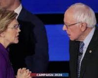 A week before Iowa, Sanders surges while Warren wanes