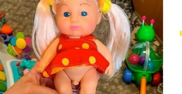'Progressive' transgender doll with pigtails and a johnson sparks outrage