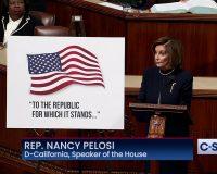Vile Nancy Pelosi grins broadly, fist bumps Bill Maher over impeachment