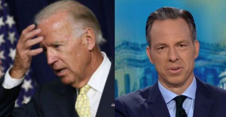 CNN's Jake Tapper mocks Biden's low turnout at Iowa caucus site