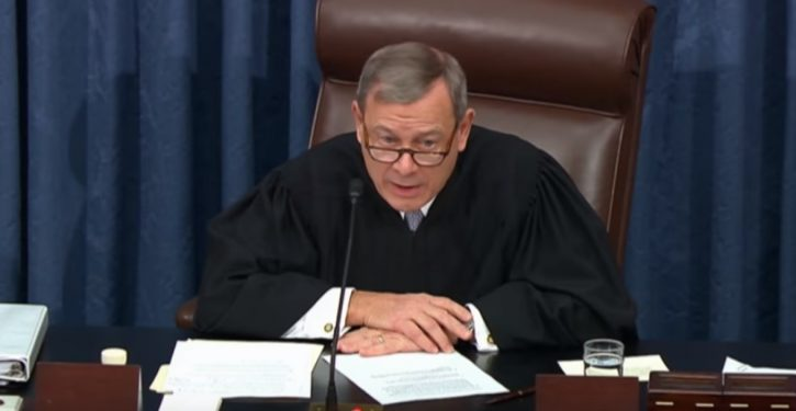 Chief Justice Roberts says he won't break any ties in Senate impeachment trial