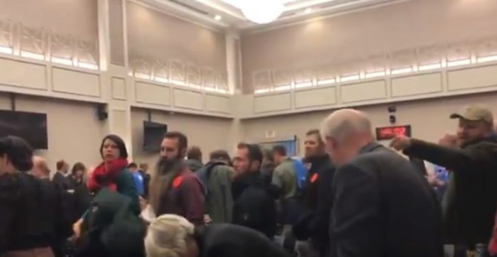 'You just made me a felon!' Angry crowd removed by security after Va. House committee passes weapons ban